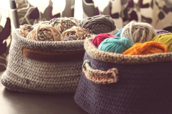 Crochet Pattern Oval Basket With Handles