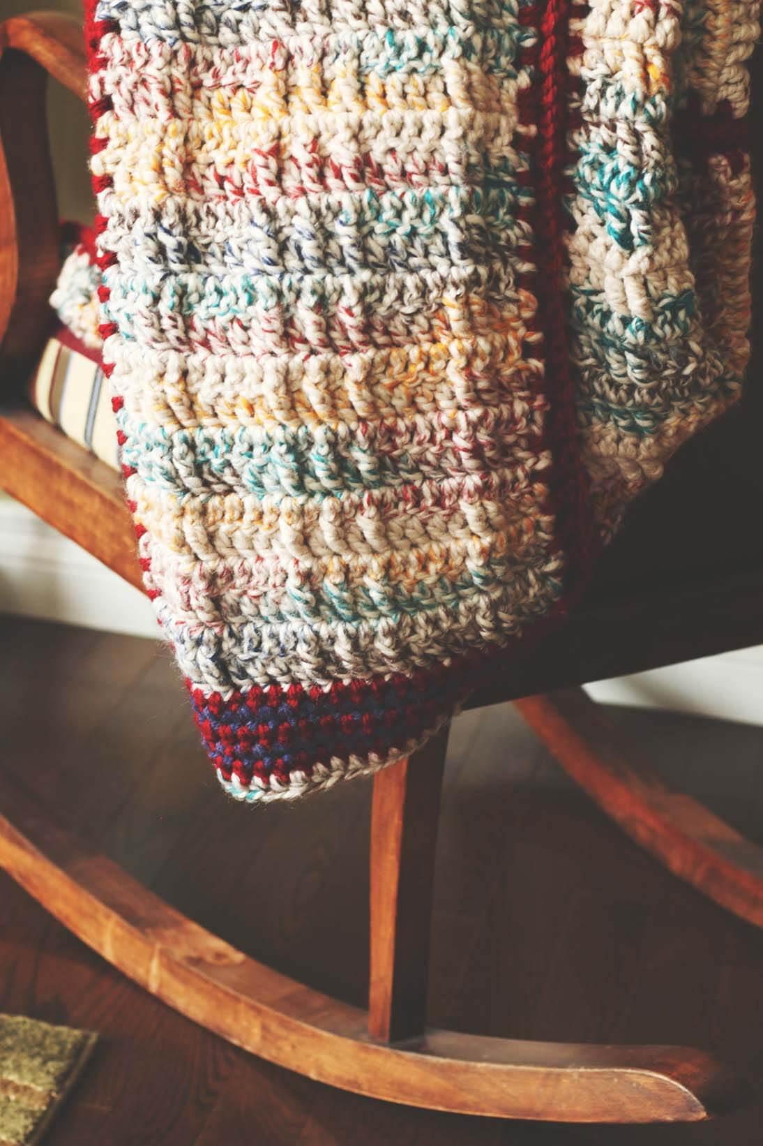 Faux Cable Blanket Crochet Pattern