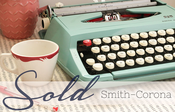 Teal Smith Corona Typewriter