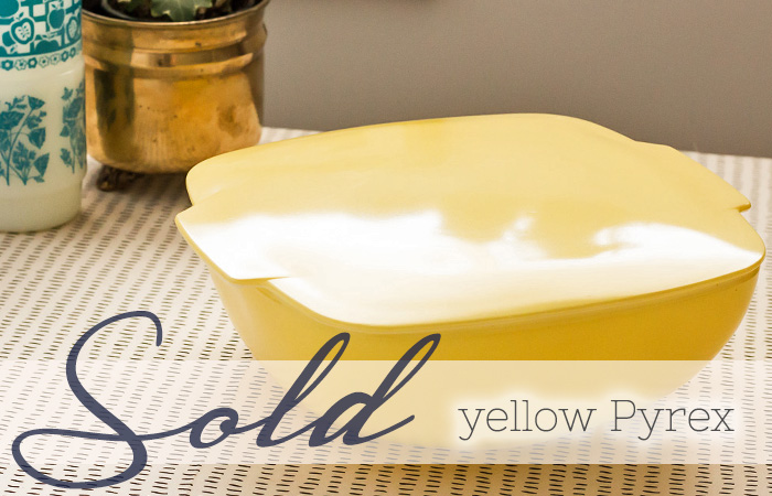 SOLD yellow pyrex